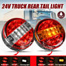 24V Rear Round Hamburger Tail Light Car Truck Trailer Red + Yellow / White Lamp