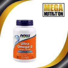 Now foods Ultra Oméga 3 500 Epa / 250 Dha 90 Gélule Poisson Huiles Cardio