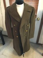 WWII era 1942 US Army Officer wool overcoat trenchcoat 36R N. SHEER & Sons