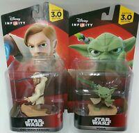 NEW Disney Infinity Yoda & Obi-Wan Kenobi Star Wars 2 Figures Xbox One 360 PS4