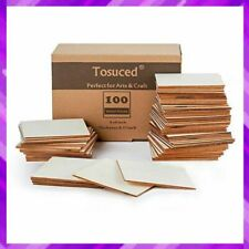UNFINISHED WOOD PIECES Blank Square Slices for Crafts Cup Coasters By TOSUCED