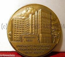 1955 1855 USA NEWARK NEW JERSEY FIREMEN'S INSURANCE CENTENIAL MEDAL