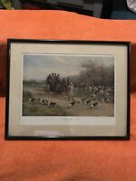 Hunting Scene by Heywood Hardy (Hounds First)Horses Fox Hunting Victorian Art