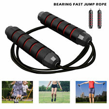 Skipping Rope 9ft Speed Adjustable Steel Cable Fitness Exercise Crossfit Boxing