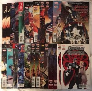 Captain America Steve Rogers #1 - 19 + FCBD 2016 by Spencer & Saiz Marvel Comic