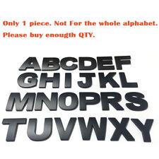 1PCS Matte Black Universal Letter Alphabet 3D Car Badge Sticker Decal Emblem
