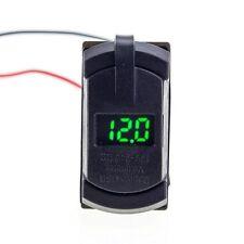 12V Dual USB Charger Socket Voltage Voltmeter Rocker Switch Panel Green LED Boat