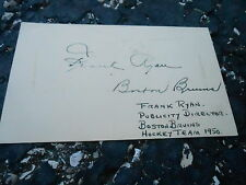 #MISC-3385 - 3x5 index card - signed auto - HOCKEY - ALLAN STANLEY