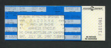 Madonna 1987 Who's That Girl World Tour Unused Full Concert Ticket Anaheim