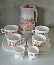 SCANIA ARCOPAL Lot vaisselle  carafe, tasses, sous tasses, coquetiers