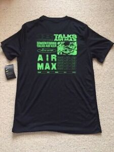 nike air max day rare dry fit tee t shirt size large
