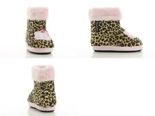Girls slippers moccasin Hello Kitty winter warm fur boot ankle slippers
