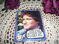 Robin William Trading Card Mork and Mindy 1978