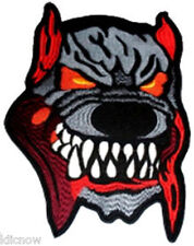 Dog's Head Large Embroidered Back Patch 20CM x 27CM ( 7 1/2 x 10 1/4)