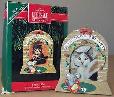 SPECIAL CAT HALLMARK Keepsake Christmas Ornament Photo Holder 1992 1st in Series