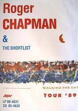 "ROGER CHAPMAN & THE SHORTLIST TOUR POSTER / KONZERTPLAKAT ""WALKING THE CAT TOUR"""
