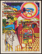 Imperfect Led Zeppelin/Jethro Tull poster 1969 FIRST Printing, from the Artist