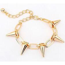 New Hot Fashion Vintage Lady Punk Chain Bracelet Bangle Rivet Spike Studs