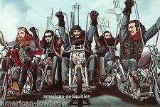 Dave David Mann Biker Art Motorcycle Poster Print Easyriders My Old Gang