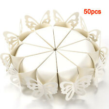50 Pcs Butterfly Favor Gift Candy Boxes Cake Style for Wedding Baby Shower ED