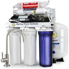 iSpring 6-Stage 75GPD Reverse Osmosis Alkaline PH Water System w/ Pump #RCC7P-AK