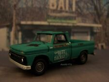 1965 CHEVY C-10 FISHING BAIT SHOP PICKUP TRUCK 1/64 COLLECTIBLE MODEL - DIORAMA