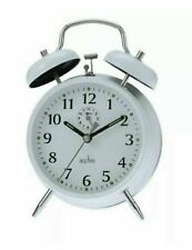 Acctim Saxon Double Bell Alarm Clock 12622 In Original Packaging New White color
