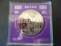 2001 £5 COIN CASED THE VICTORIA ERA BRILLIANT UNCIRCULATED FIVE POUNDS