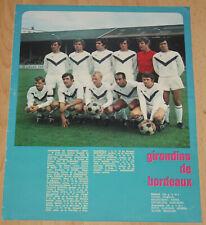 football poster team Jensen Ruiter Giresse Papin équipe Girondins Bordeaux 1972