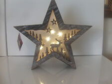 Star LED Night Light Battery Operated Home Bedroom Christmas Decor