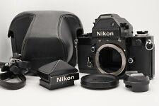 [N MINT] Nikon F2 Black Body Photomic S & Eye Level Finder DP-2 DE-1 Case Japan