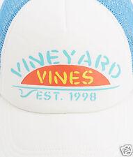 "New/Tags VINEYARD VINES Surf Logo Graphic ""MESH TRUCKER"" BASEBALL HAT-CAP 1-SZ"