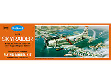 A-1H Skyraider Balsa Stick and Tissue Scale Model Airplane Kit 904, Rubber Power