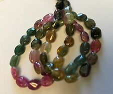 MULTICOLOR TOURMALINE POLISH OVAL 5X6MM BEADS  13""