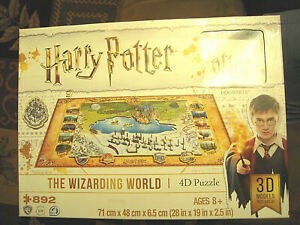 COLLECTIBLE Harry Potter 4D Puzzle, multi-level, complete with 3D buildings