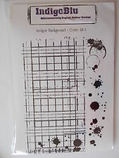 IndigoBlu s'accrochent Mounted Rubber Stamp-grand livre du fond