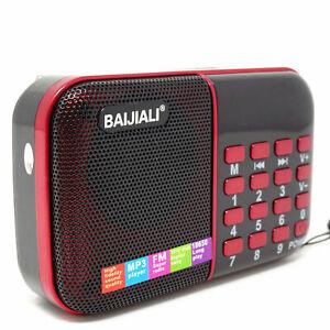 MINI RADIO PORTATILE RADIOLINA FM LETTORE MPS USB microSD BJL-180 + pila 18650