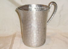 Vintage Hand Forged Everlast Metal Hammered Aluminum Pitcher - Ice Shield