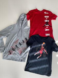 3tlg.Nike Jordan Hoodie Sweatshirt Pullover Kapuze Tshirts Gr.S/M Top