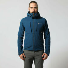 Montane Mens Dyno Stretch Outdoor Jacket Top - Blue Sports Full Zip