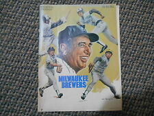 Old Vintage 1979 Milwaukee Brewers Chicago White Sox Official Program Magazine