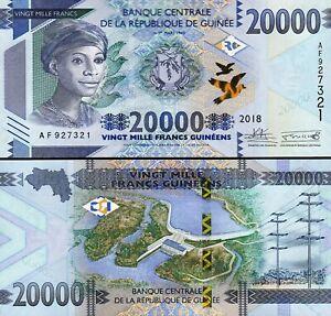Guinea 20000 Francs 2018 - 2019, UNC, P-NEW DESIGN