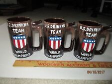 WEIRD GAG GIFT U.S. DRINKING TEAM MUGS - NOS - SET OF THREE