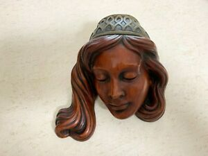 Achatit Face Mask Wall Mount Made in Germany. Mid Century Modern, Turkish Lady