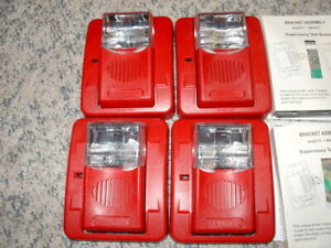 Lot of 4 Commander 3 Evacuation Signal with Field Selectable Candela GEC3-24WR