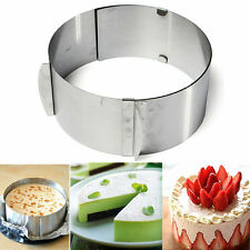 6''-12'' Mousse Ring Adjustable Stainless Steel Cake Circular Mold Tool NEW UK