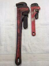 Ridgid Heavy Duty Pipe Wrench Lot Of 2 Size 18 & 10