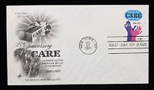 1971 FDC 25th Anniversary CARE 1946-1971 8 Cent Stamp #1496