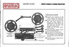 EUMIG MARK S 802 User Instruction Manual Genuine Original USED booklet English