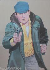 VINTAGE Polizia LAW ENFORCEMENT SHOOTING target POSTER artista = Arthur piroton